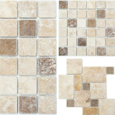 Travertinmosaik Naturstein Mosaikfliesen Küchenrückwand Wandverblender Bad WC