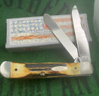 case xx Rare 1991 Tang Stamp Stag Trapper Knife Great Stag Perfect Unused Mint