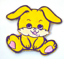 CUTE YELLOW BUNNY RABBIT Embroidered Iron Sew On Cloth Patch Badge APPLIQUE