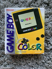 Box Only - Nintendo Game Boy Color Yellow - No Console - Gameboy SEALED ONE END
