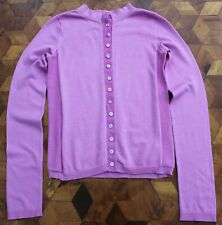 Emporio Armani Silk Top Cardigan size 40 8 UK Lilac