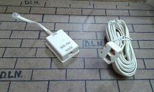 CAVO TELEFONICO 7,5 MT  MASCHIO/2 FEMMINA PLUG RJ11 CON FILTRO ADSL