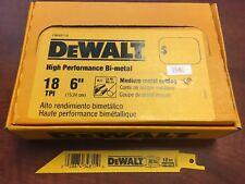 """(100) DEWALT 6"""" DW4811B SAWZALL SAW BLADES 18TPI BI METAL DCS380B DCS367B"""