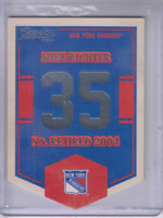 2012-13 Classics Signatures Banner Numbers #56 Mike Richter - NM-MT