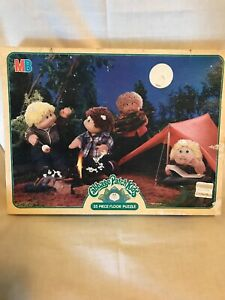 """VTG NEW Jigsaw Puzzle Cabbage Patch Kids 35 Piece Camping Large 4494-3 22x17"""""""