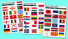 FLAG STICKERS for Bike Panniers or for Cars - the full collection !!