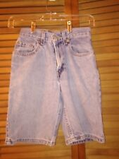 Levi's shorts boys size 12 slim cotton waist 24 length 9