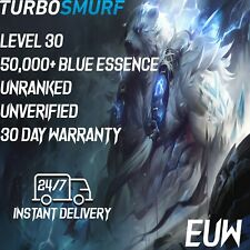 League of Legends Account EUW Unranked & Unverified Smurf 50,000 - 60,000 BE