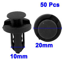 50x Car Auto 10mm Hole Dia Plastic Rivets Fastener Fender Bumper Push Pin Clips