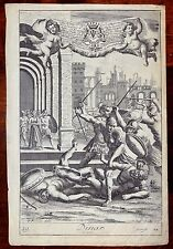 BIBLE Dina & Joseph sold into Egipt Joseph vendu en Egypte 1690 Freman