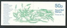 FB33 1985 Common Frog (pond life) No Star 50p Folded Booklet Cyl B36 good perfs