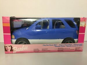BARBIE COCHE DE CAMPO (POP OUT PICNIC SUV CAR). MATTEL AÑO 1999. NUEVO. VEHICULO
