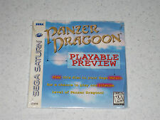 Panzer Dragoon Playable Demo Disc Video Game Sega Saturn Sealed Unopened