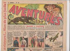 AVENTURES 1ère année 1936. n°35 - 1er décembre 1936