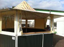 16,3m² Grillstand Verkaufsstand Imbiss mit Theke /  Dach creme Seite anthrazit