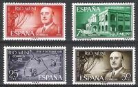 SPANISH COLONIES - RIO MUNI 1961 XXV YEARS OF GENERAL FRANCO Edifil 21 - 24 MNH