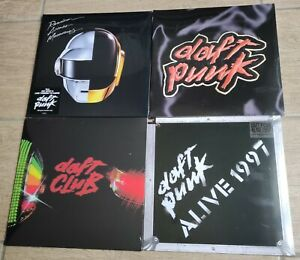 DAFT PUNK - 4 LP PACK NEW AND SEALED / HOMEWORK,RANDOM ACCESS MEMORIES, ALIVE 97