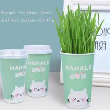 Cat Grass Seeds Soilless Culture Cultivation Kit Pet Cat Remove Hair Ball Newly