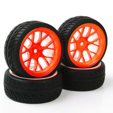 4X PP0150+DHO Rubber Tires WheelRim For HSP HPI RC 1/10Flat Racing On Road Car
