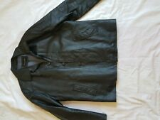 MENS CIRO CITTERIO BLACK LEATHER JACKET SIZE 42 INCH CHEST LARGE