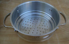 New Stainless SS Steamer Stock Pot Sauce Pan Insert Pasta Vegetable Strainer 7""