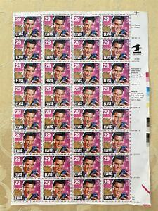US Stamps 29c 1993 NMNH Partial Sheet (32 Pcs) Elvis Presley Scott #2721