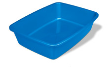 Cat Litter Pan Medium Size Pet Blue Color Poop Clean Easy Kitty Box Kitten