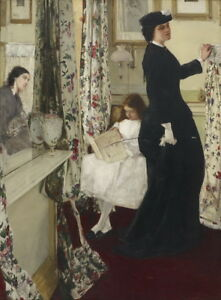James Whistler The Music Room Giclee Canvas Print Paintings Poster Reproduction