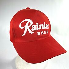 RAINIER BREWING COMPANY BEER baseball hat RED CANVAS CAP snapback hat BRAND NEW