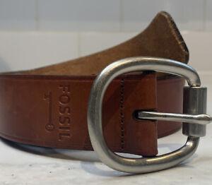 Womens Fossil Brown Leather Belt Medium