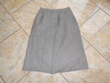 D2750 Markenlos Woll Rock  42 Braun Creme  Fischgrät mit Mängeln