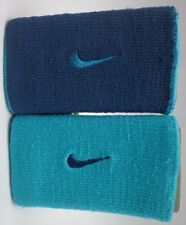 Nike Dri-Fit Home & Away Doublewide Wristbands Hyper Jade/Space Blue
