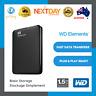 WD Elements 1.5TB 4TB External Hard Drive Portable USB 3.0 HDD Expansion Black