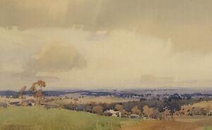 """Original Watercolour Painting Harold B Herbert (Aust 1891-1945) """"The View"""""""