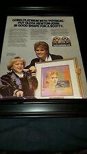 Olivia Newton John Physical Scotty Award Rare Original Promo Poster Ad Framed!