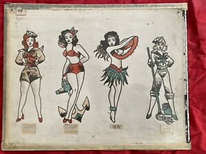 Vintage Tattoo Flash Antique Original Production Flash Tattooing History