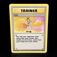 Lass - Base Set 75/102 WoTC Rare Trainer Pokemon Card 1999