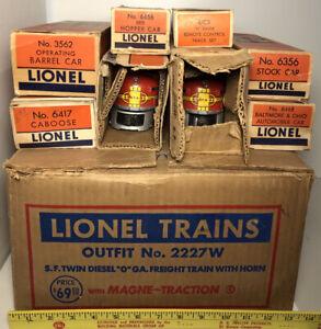 Lionel santa fe twin diesel freight set, model 2227W