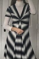 Phase Eight Soft Striped Dress With Cashmere Size 10 New