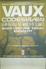 EQUAL VISION RECORDS Fall Tour 2004 promo poster, 13x19, EX, Vaux, Codeseven