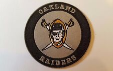 "Oakland Raiders Vintage Iron on Embroidered    Patch 3"" x 3"" QUALITY"