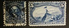 USA,3stamp Omaha- Mint +cancelled 2$-last version (cat value 680$)