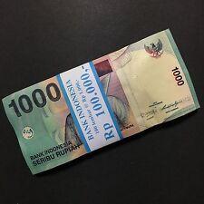 2013 INDONESIA 1,000 1000 RUPIAH P-141 UNC LOT 100 PCS FULL BUNDLE