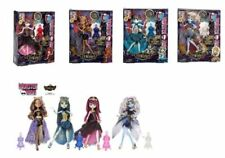 MONSTER HIGH 13 WISHES FIVE DOLLS,CASBAH SIGNED PRINT ART & TWO PLAYSETS W/DOLLS