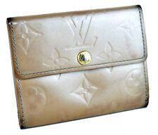 Auth Louis Vuitton Monogram Beige Bifold Wallet Purse Coin Case Hand Bag France