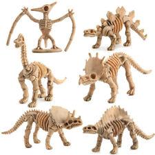 6PC Random Novelty Assorted Dinosaur Fossil Skeleton Figures Model Building Kits