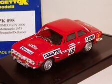 ALFA ROMEO GTV 2000 #40 FREQUELIN/DELFERRIER MONTE CARLO 1975 PROGETTO 095 1/43