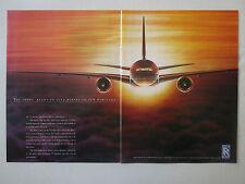 10/1991 PUB ROLLS-ROYCE TRENT 800 ENGINE MOTEUR BOEING 777 AIRLINER ORIGINAL AD