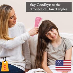 Cepillo desenredante para cabello rizado Afro Americano Herramientas para peinar