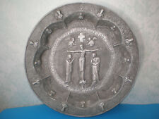 Greek lead-tin / zinc / plate/icon of religious themes from the 19th century